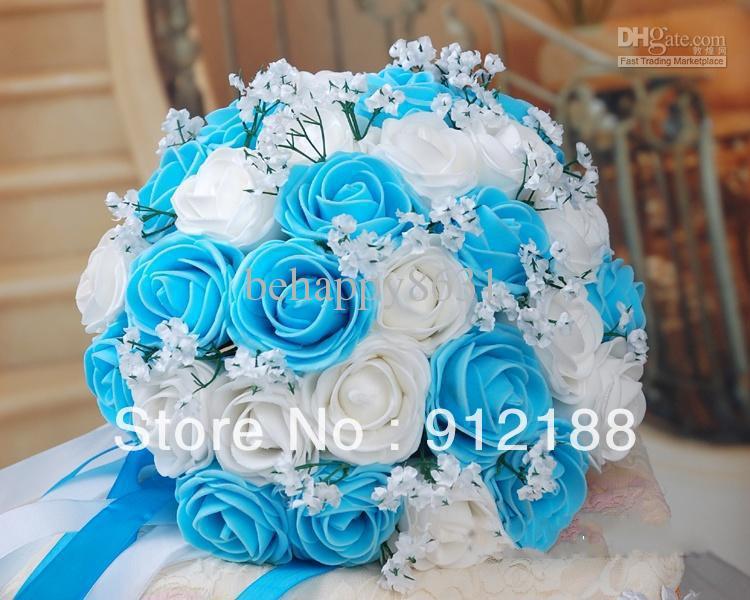 Blue Flowers For Wedding Widescreen Wallpaper 14 Desktop Background Hdflowerwallpaper