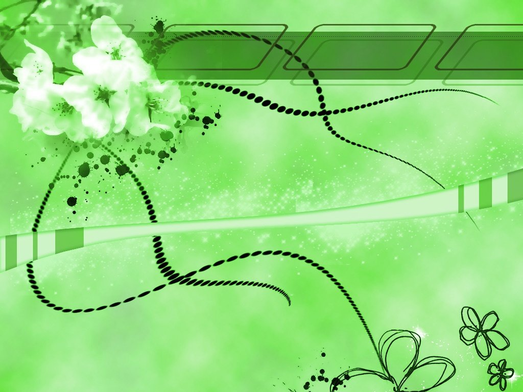 Green Flower Wallpaper HD