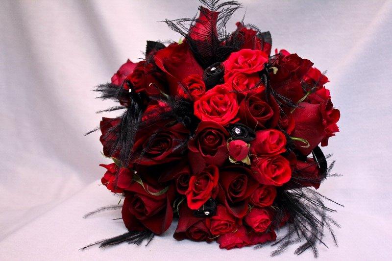 Red And Black Flower Arrangements 16 Hd Wallpaper